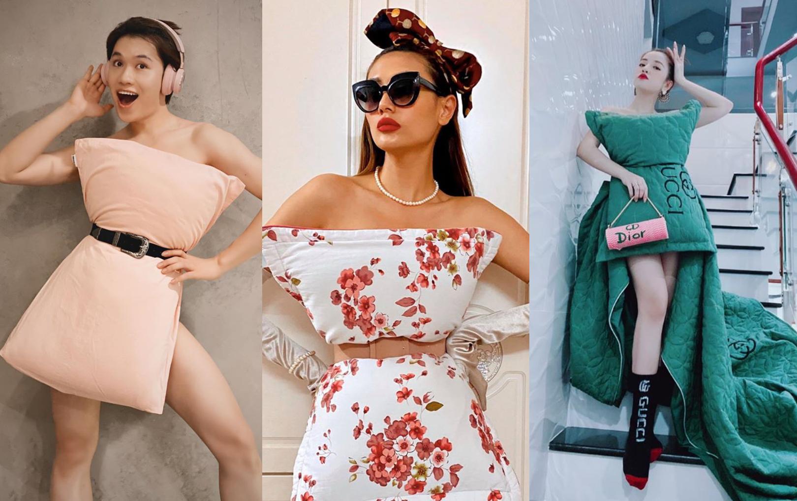 Sao Việt ngày càng mê mẩn trào lưu lấy gối làm váy: Càng về sau càng chất, loạt sao nam nhanh chóng nhập cuộc