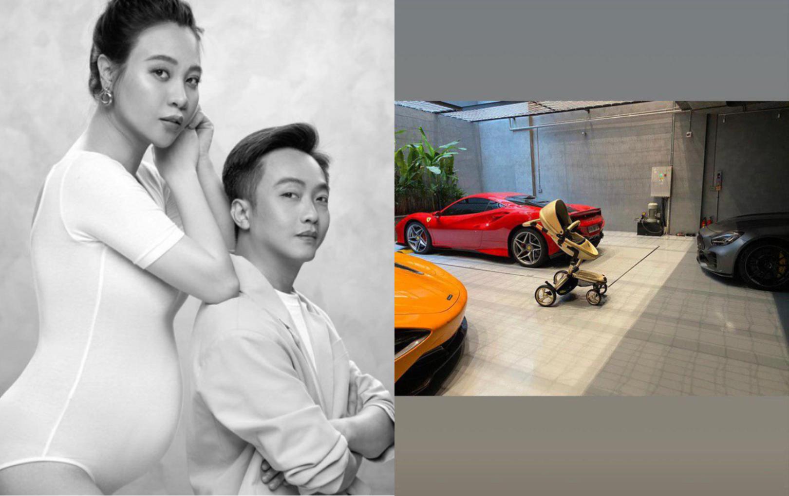 """Cường Đô La khoe món quà đầu tiên cho con giữa dàn siêu xe: Nhìn là biết em bé """"sinh ra ở vạch đích"""""""