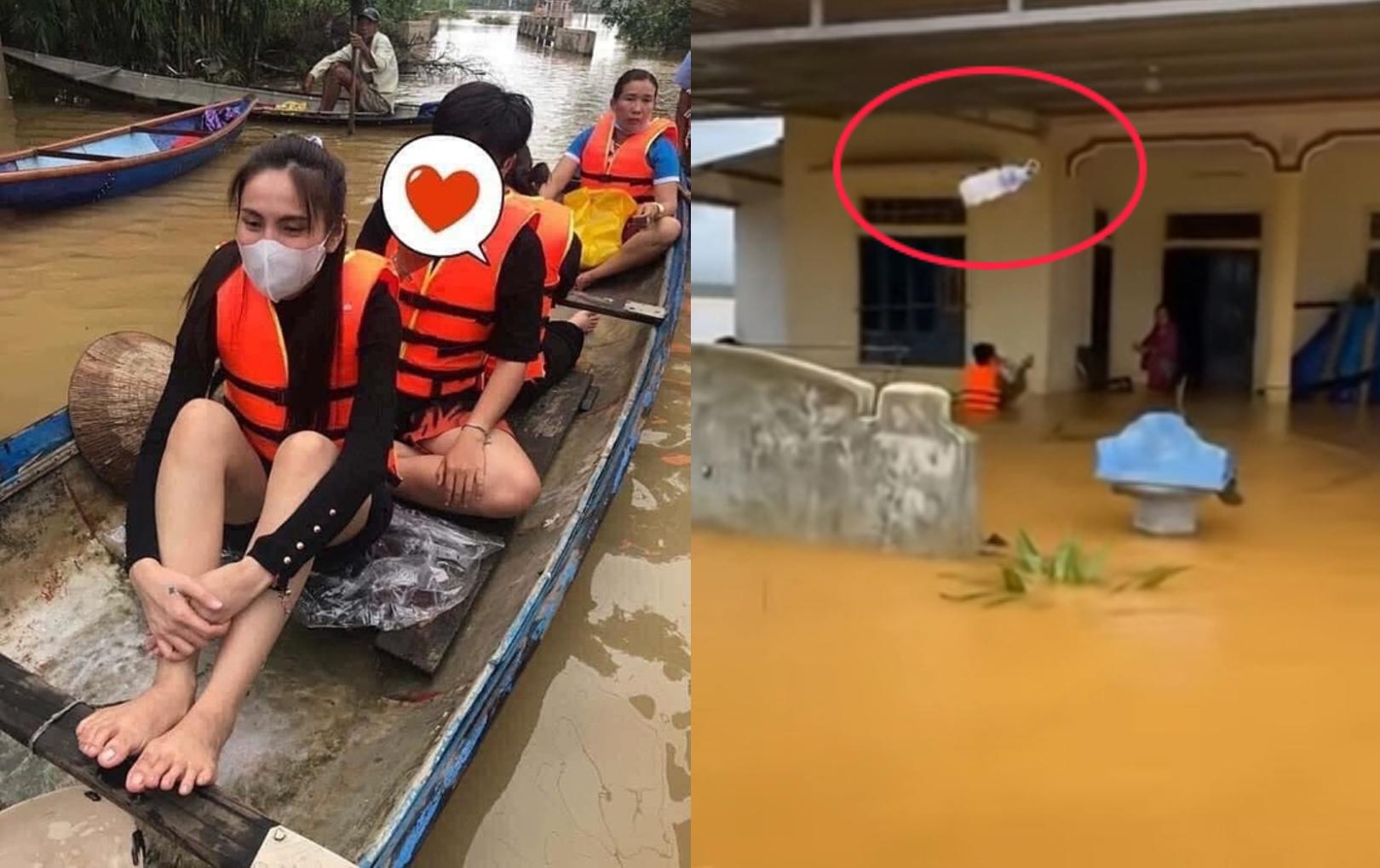 Tranh cãi việc đoàn của Thủy Tiên ném đồ cứu trợ vào nhà dân, netizen lên tiếng bênh vực