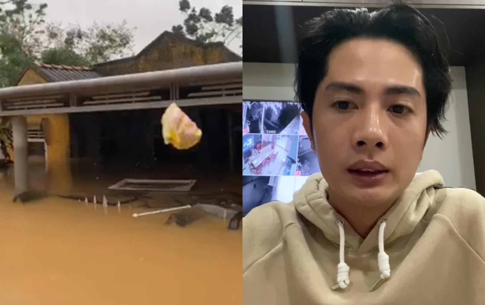Huỳnh Phương lên tiếng khi đoàn thiện nguyện gây tranh cãi vì ném quà cứu trợ cho người dân