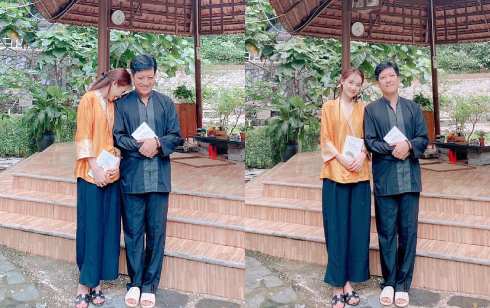 Trường Giang - Nhã Phương cùng nhau đi chùa sau chuyến cứu trợ: Khoảnh khắc bình yên khiến ai cũng ghen tị