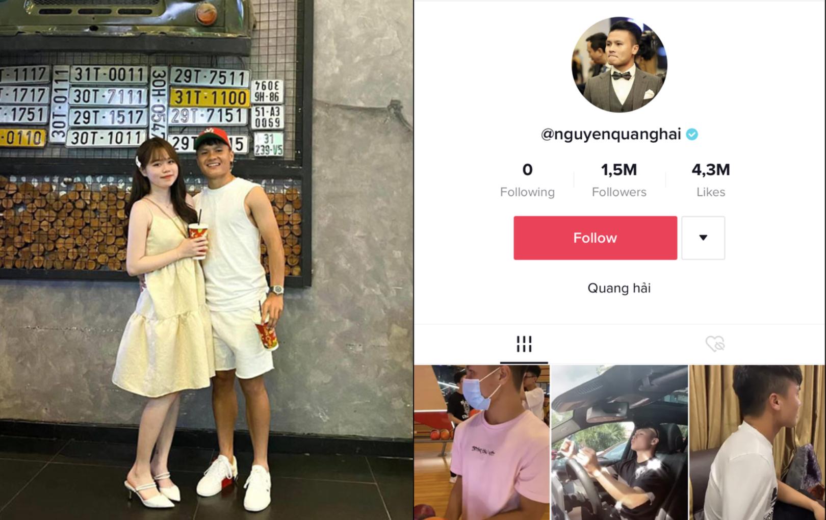 """Quang Hải rời khỏi hội """"chỉ follow mình em"""" trên TikTok, xóa bức ảnh cuối cùng trên Facebook với Huỳnh Anh"""