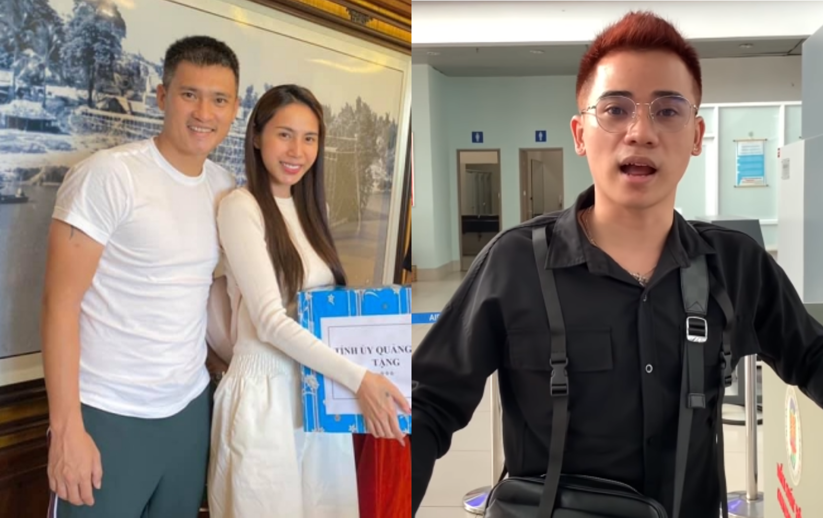 """""""Ca sĩ phố đi bộ"""" Quang Hùng tố bị Công Vinh - Thủy Tiên bỏ rơi ở sân bay khi đi cứu trợ"""