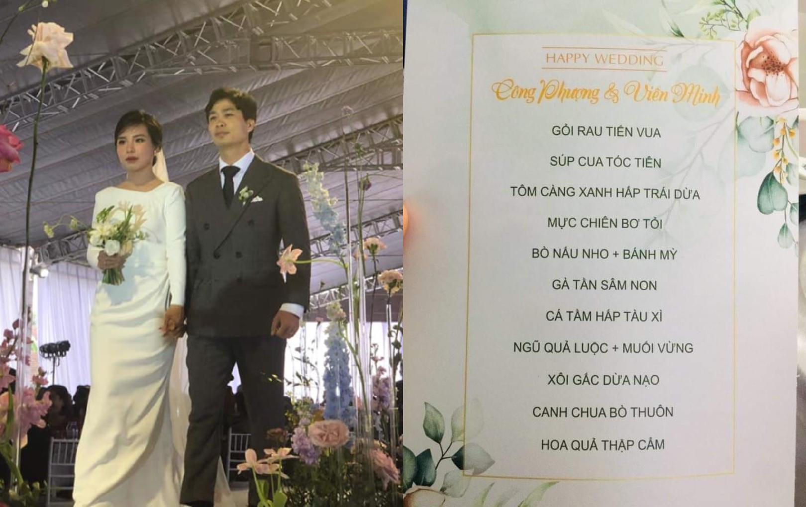 Hé lộ thực đơn 11 món trong đám cưới Công Phượng ở Nghệ An, bà con ngồi kín rạp chung vui