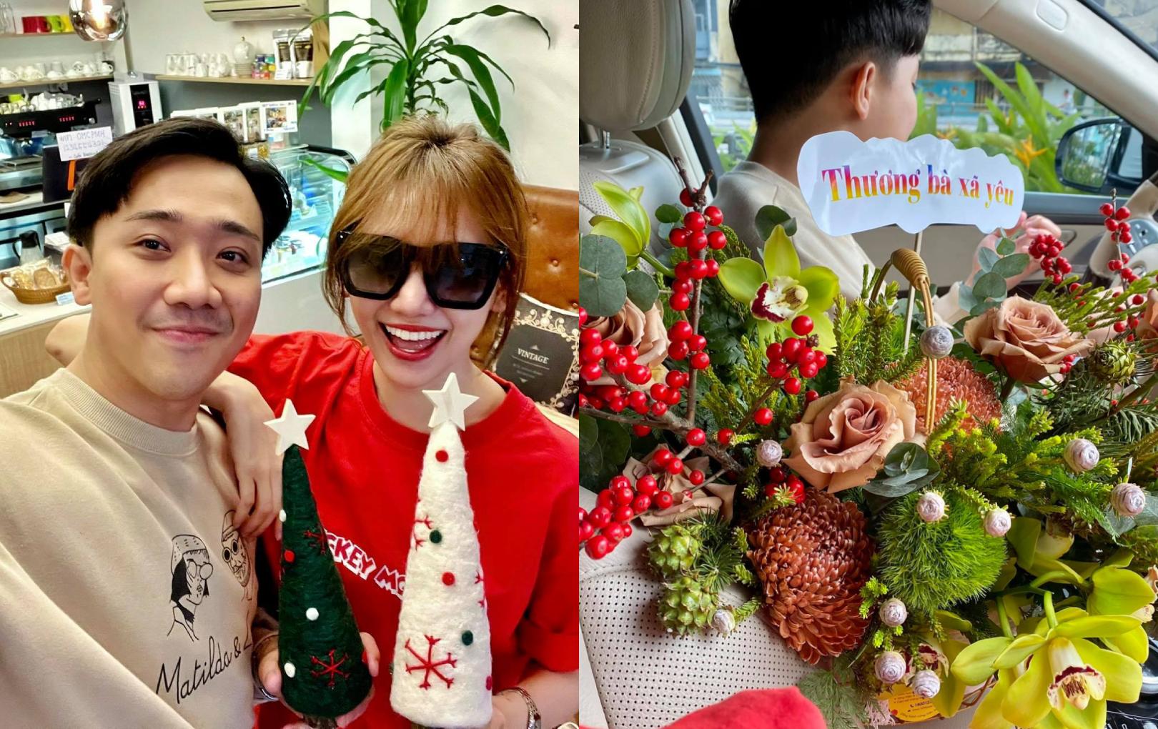 Trấn Thành tặng Hari Won quà Giáng sinh bất ngờ cùng lời nhắn nhủ cực ngọt