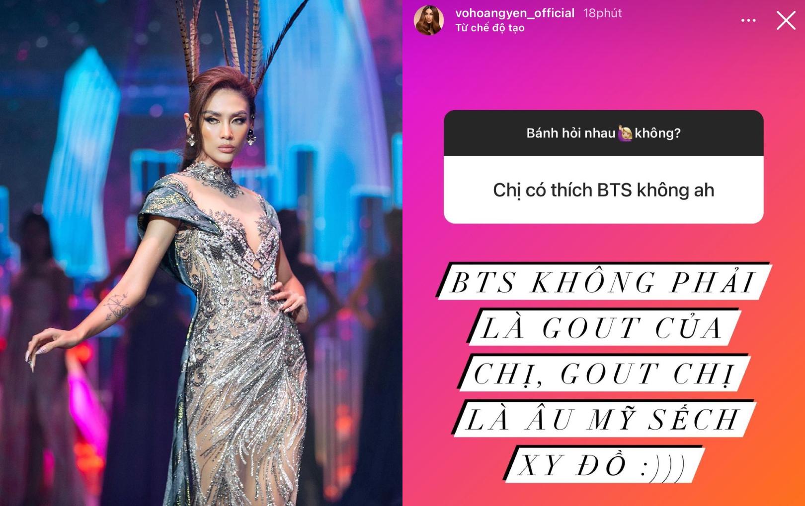 """Võ Hoàng Yến trả lời thẳng thắn khi được hỏi có thích BTS không: """"Không phải gout chị"""""""