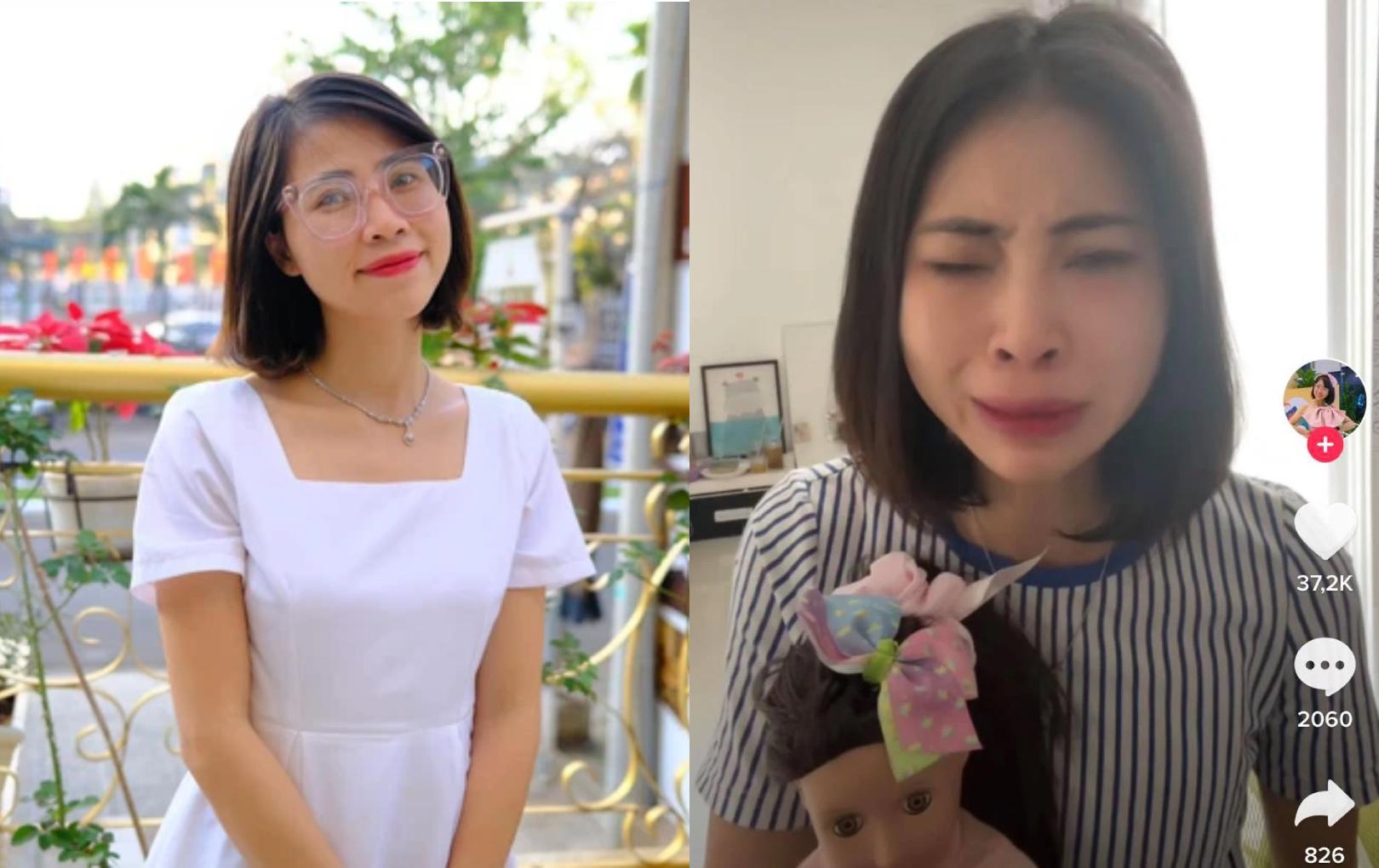 Thơ Nguyễn tuyên bố nghỉ làm YouTuber, khóc nức nở thanh minh về clip nói chuyện với búp bê