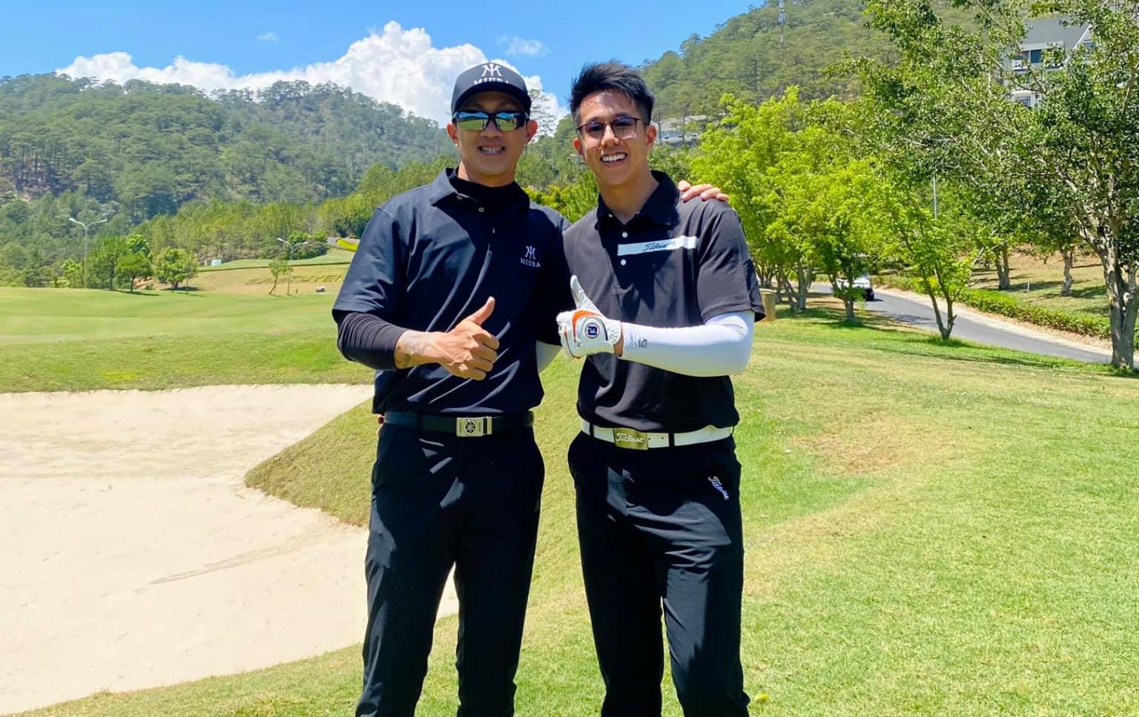 Matt Liu đi chơi golf cùng bạn trai cũ Hương Giang giữa nghi vấn chia tay nàng Hậu