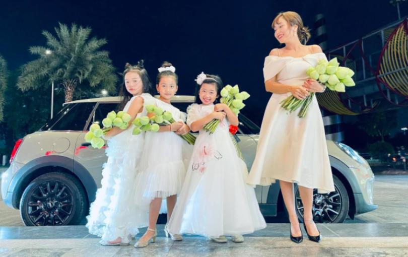 Con gái cố diễn viên Mai Phương xinh xắn dự thảm đỏ, xuất hiện như tiểu công chúa bên các con của Ốc Thanh Vân