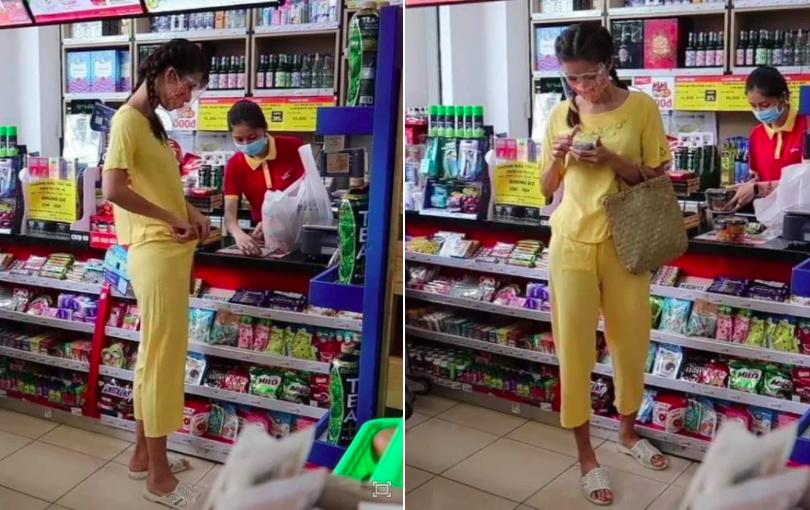 Minh Tú diện style thun lạnh 130k đi siêu thị: Da ngăm đen, đi dép tổ ong nghìn lỗ