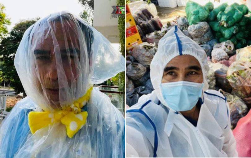 Quyền Linh khiến netizen xót xa khi bịt túi ni lông lên đầu để đảm bảo an toàn chống dịch
