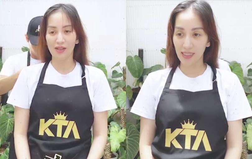 """Netizen để ý ánh mắt Khánh Thi đượm buồn, biểu cảm gượng gạo trong livestream với Phan Hiển hậu tin đồn """"trà xanh"""""""