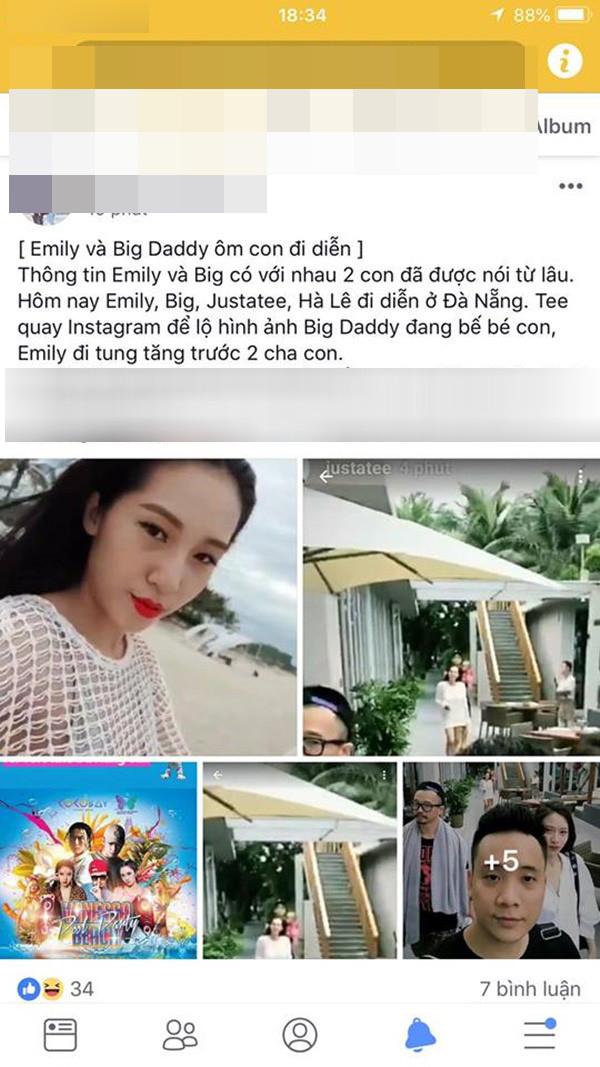 Chẳng còn che giấu, Emily cũng khoe ảnh hôn ông xã Big Daddy ngọt ngào ngày đầu năm