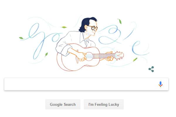 Nhạc sĩ Trịnh Công Sơn là người Việt Nam đầu tiên được Google Doodles vinh danh !