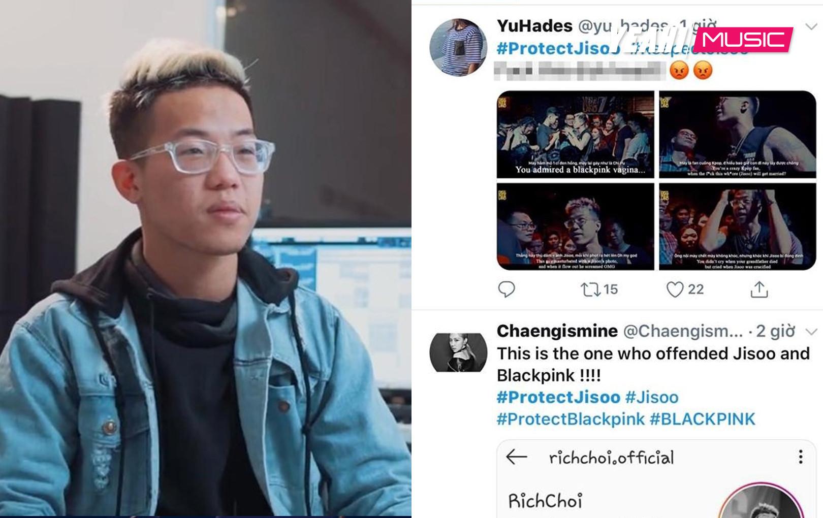 """Dùng từ ngữ vô học với Jisoo để rap diss, Blink quốc tế phẫn nộ report Richoi :"""" Vô duyên có duyên chết liền"""""""