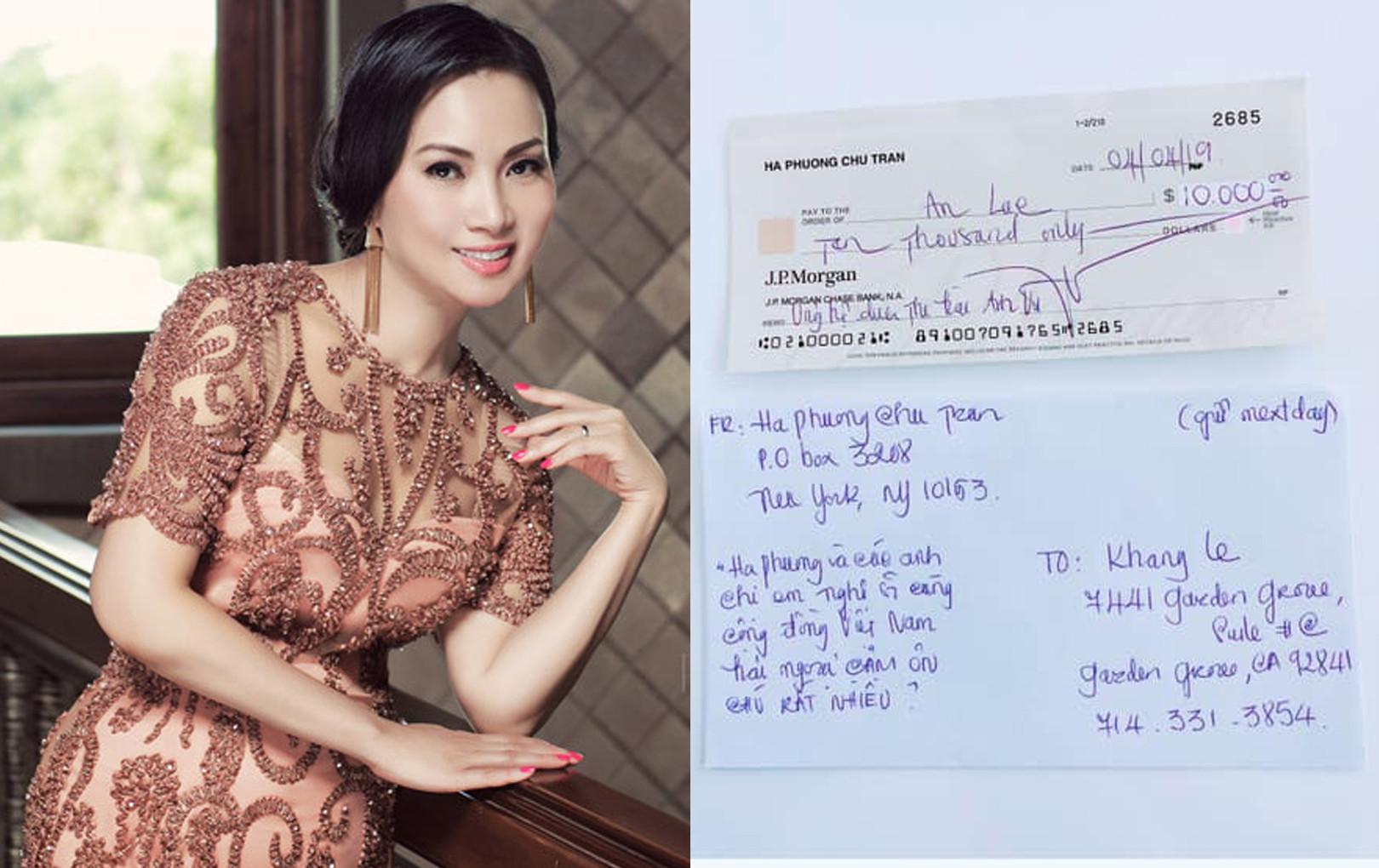 """Bị đồn thổi """"nói được không làm được"""", em gái Cẩm Ly công khai biên nhận 10.000 USD giúp đỡ cố nghệ sĩ Anh Vũ"""
