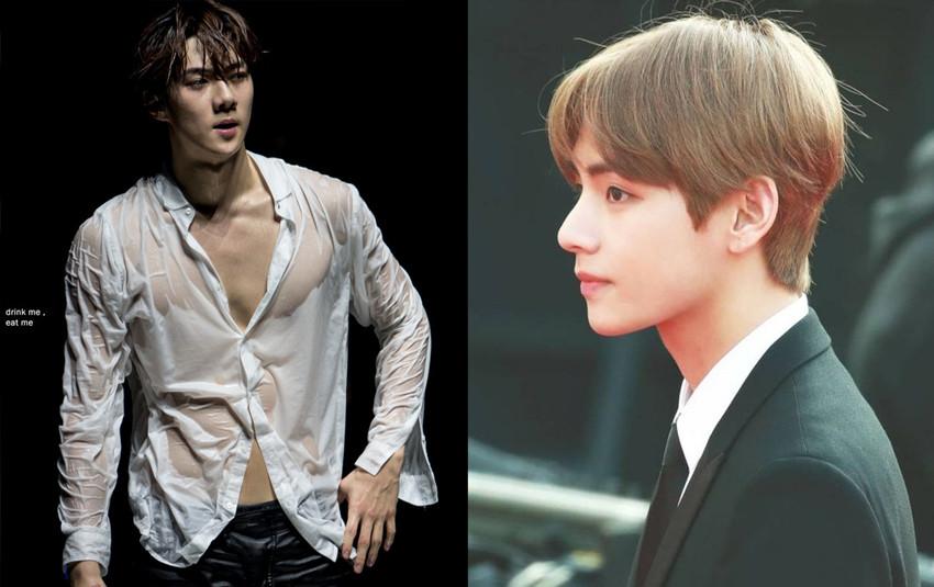"""""""Thuốc độc idol"""" - Tấm lưng của Jungkook, chiếc mũi của V, body của Sehun... đã """"giết chết"""" fan girl như thế đấy!"""