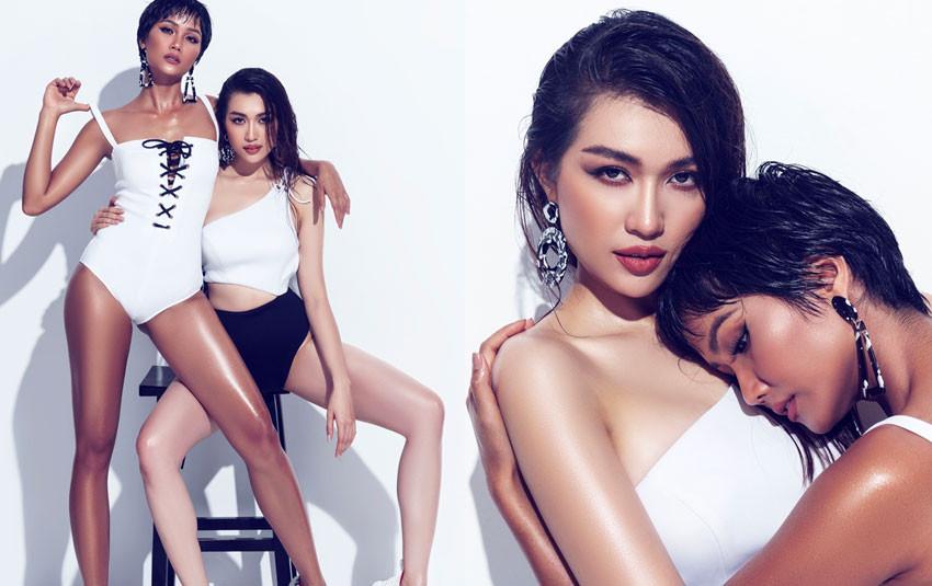 """Bộ ảnh bikini đẹp """"nín thở"""" của H'Hen Niê và Lệ Hằng """"bẻ cong"""" hàng loạt fan nữ trên mạng xã hội"""