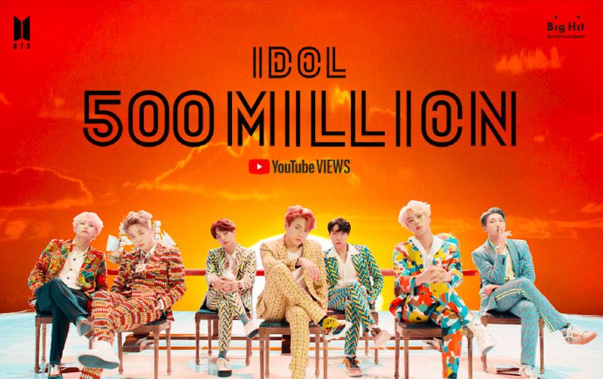 """BTS đốn ngã thành tích mới với  MV cũ, """"Idol"""" cuối cùng cũng vươn lên vị trí này"""