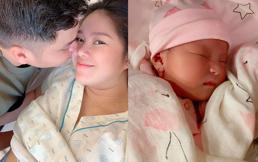 Lê Phương chia sẻ  hình ảnh mới nhất của con gái út gần được 1 tháng tuổi, xinh xắn không kém gì mẹ