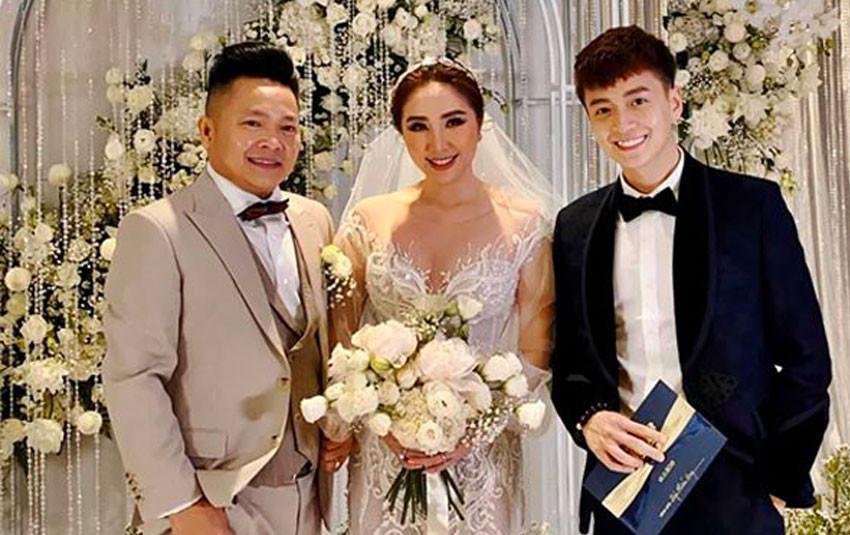 Cô dâu Bảo Thy chính thức xuất hiện, quyến rũ và sắc sảo bên cạnh ông xã doanh nhân
