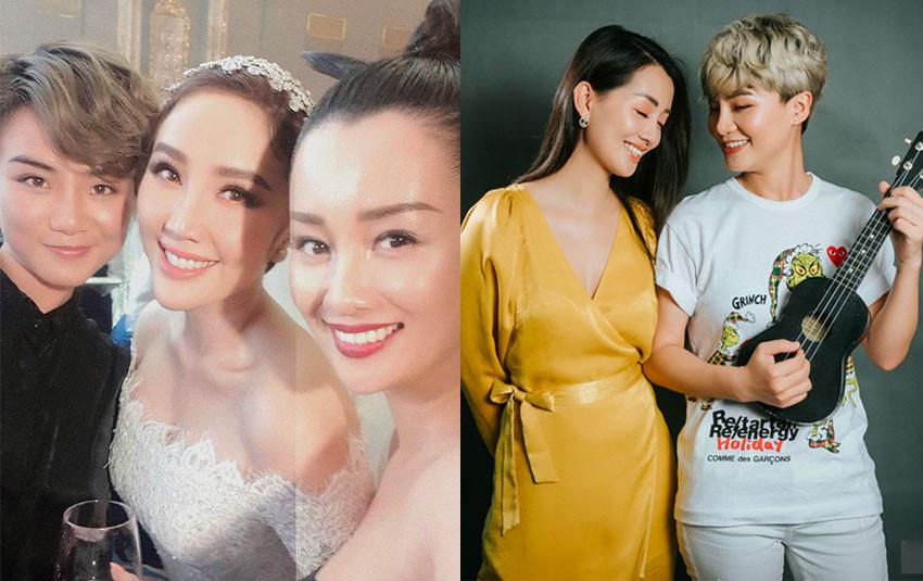 """Fan """"đẩy thuyền"""" cặp đôi """"bách hợp"""" MC Quỳnh Chi - Thùy Dung khi bắt được hoa cưới từ cô dâu Bảo Thy"""