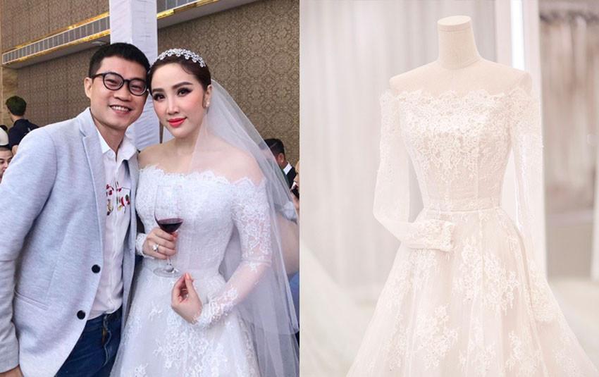 Soi cận cảnh 3 bộ váy cưới lộng lẫy của cô dâu Bảo Thy đêm qua