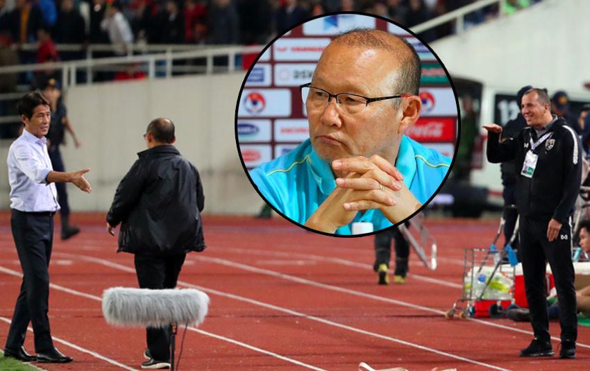 """""""Nghiệp quật tới sớm"""", trợ lý đội tuyển Thái Lan có thể bị phạt nặng vì thói """"cà khịa"""" HLV Park Hang-seo"""