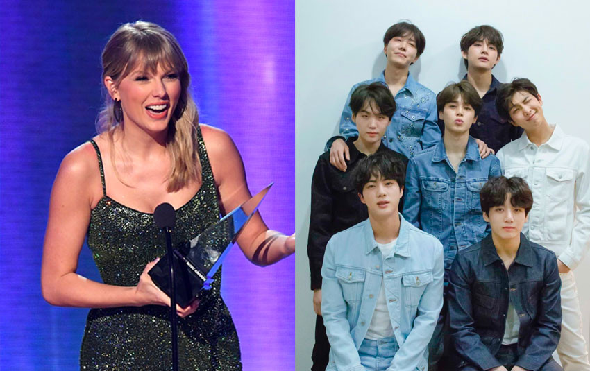 """Taylor Swift """"đụng độ"""" BTS tại AMAs 2019: """"Bướm chúa"""" thắng 6 giải, BTS là nghệ sĩ châu Á đâu tiên ôm về 3 giải thưởng"""