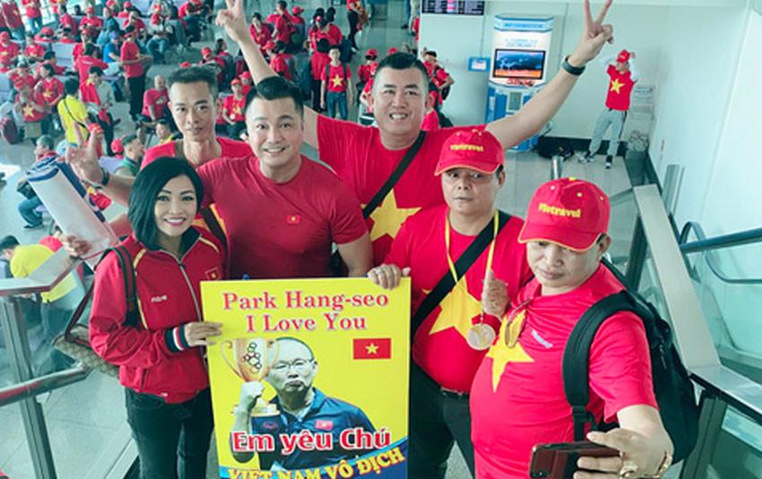 Phương Thanh và dàn sao Việt bay sang Philippines, trực tiếp cổ vũ đội tuyển U22 Việt Nam tại chung kết Sea Games 30