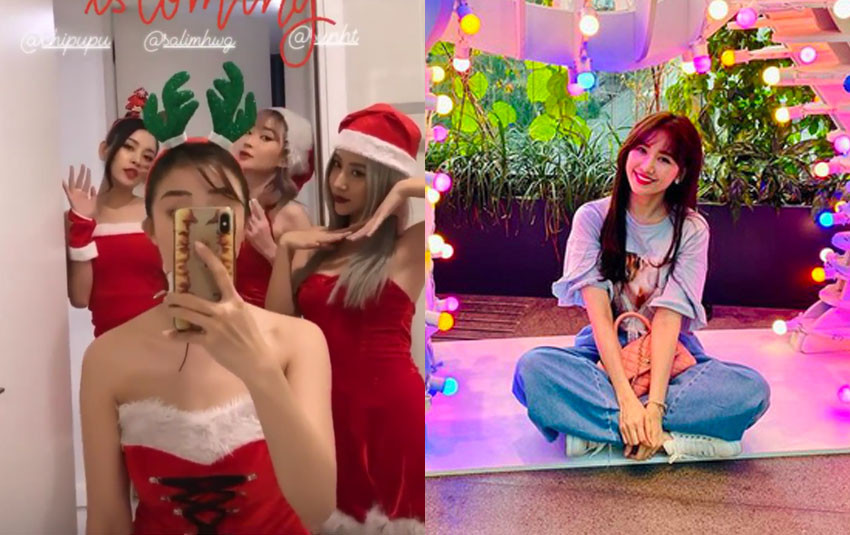 """Sao Việt đón Noel 2019: Chi Pu cosplay cùng hội bạn thân, Hari Won """"niềm vui nhân đôi"""" với kỉ niệm ngày cưới"""