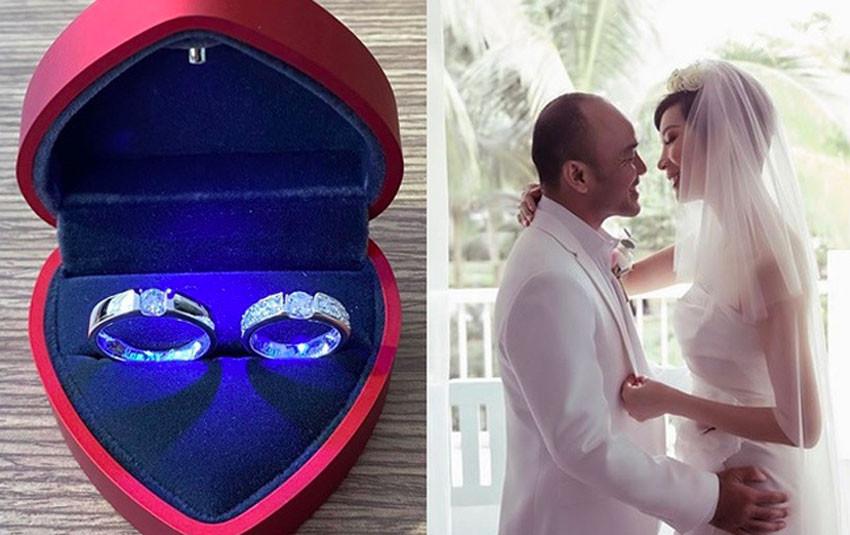 Xuân Lan tiết lộ nhẫn cưới kim cương tinh xảo bạc tỷ với ông xã Việt kiều