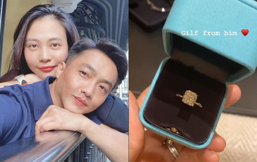 Cường Đô La tặng nhẫn kim cương siêu khủng sau khi úp mở chuyện Đàm Thu Trang đang mang bầu