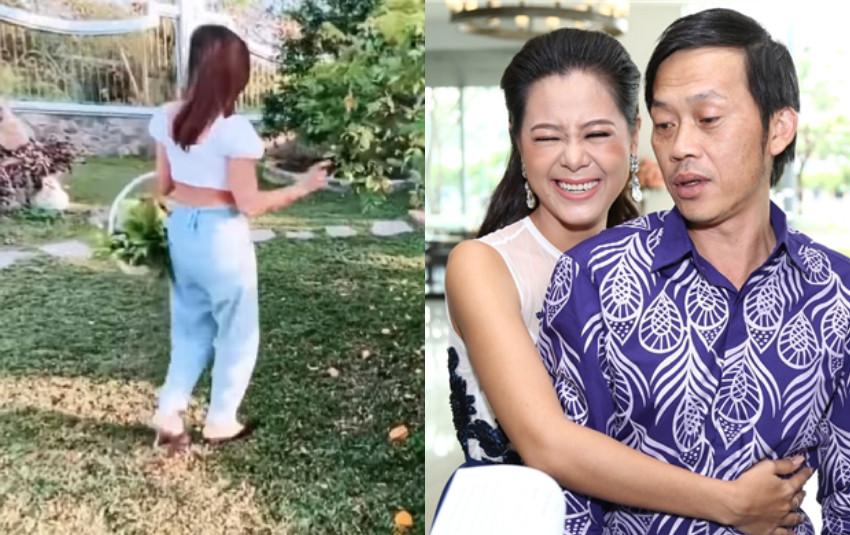 """Nam Thư bị chỉ trích vì diện áo hở cả bụng lại còn """"đu đưa"""" thăm nhà thờ Tổ của Hoài Linh"""