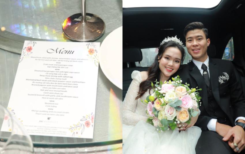 Menu 9 món sang trọng theo phong cách Âu và bánh cưới tinh tế trong lễ cưới của Duy Mạnh - Quỳnh Anh tại khách sạn đắt đỏ nhất Hà Nội