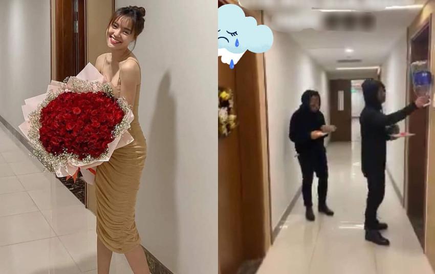 Ninh Dương Lan Ngọc nhận được hoa Valentine, dân mạng nhận ra địa điểm check-in lại là nhà Chi Dân?