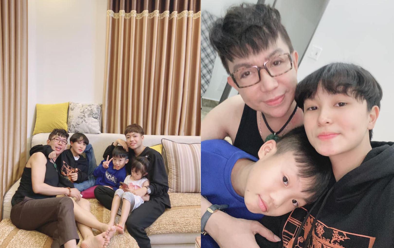 Long Nhật hiếm hoi khoe ảnh cùng các con sau tin đồn đồng tính