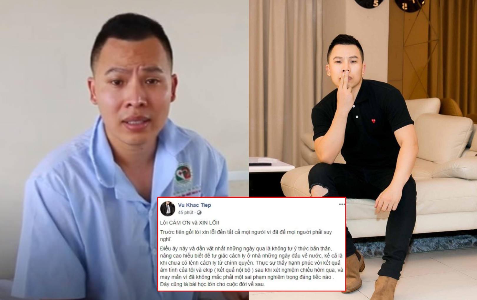 Vũ Khắc Tiệp lên tiếng xin lỗi sau lùm xùm muốn trốn cách ly, tuyên bố ngừng sử dụng Facebook