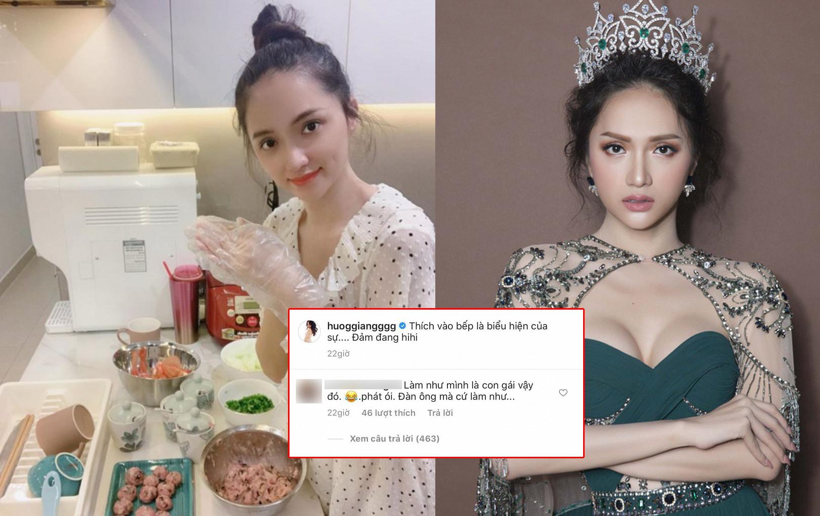 Bức xúc chuyện Hương Giang khoe ảnh nấu ăn nhưng bị antifan miệt thị giới tính