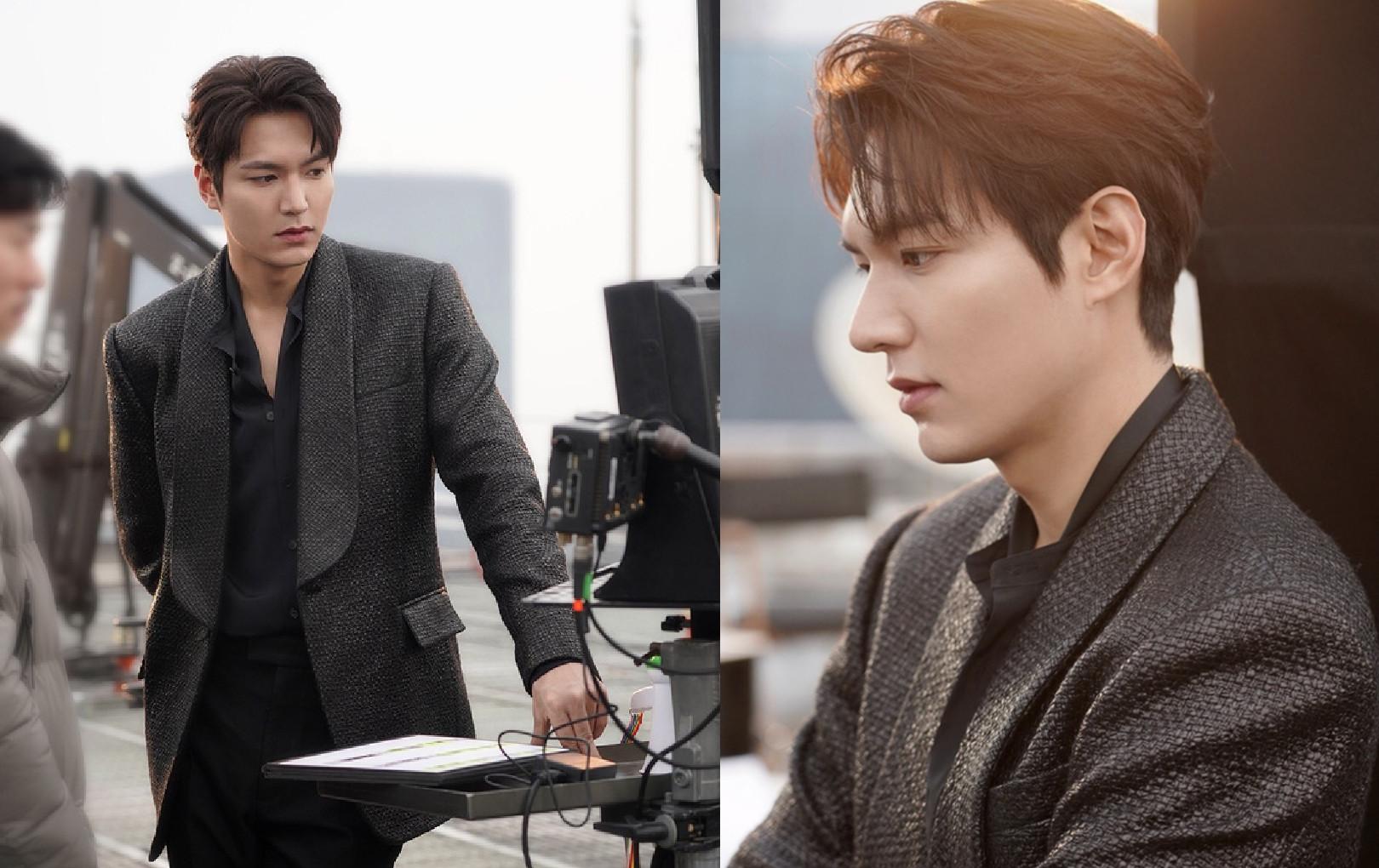 """Điên đảo với góc nghiêng cực phẩm của Lee Min Ho trong hậu trường phim mới """"mẹ đẻ"""" Hậu duệ mặt trời"""