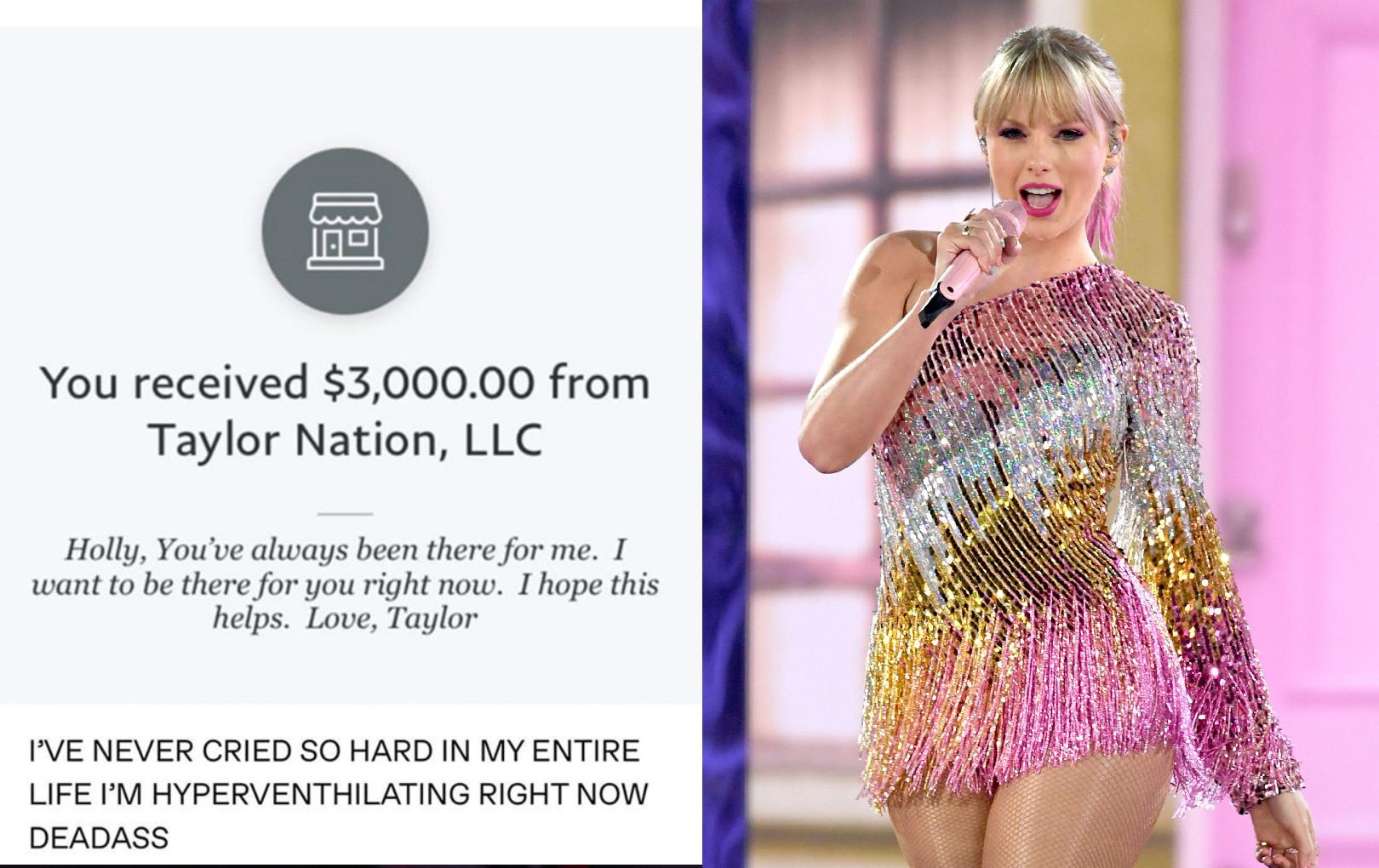 Fan vừa than hết tiền vì dịch Covid-19, Taylor Swift liền tặng mỗi người 3000 USD