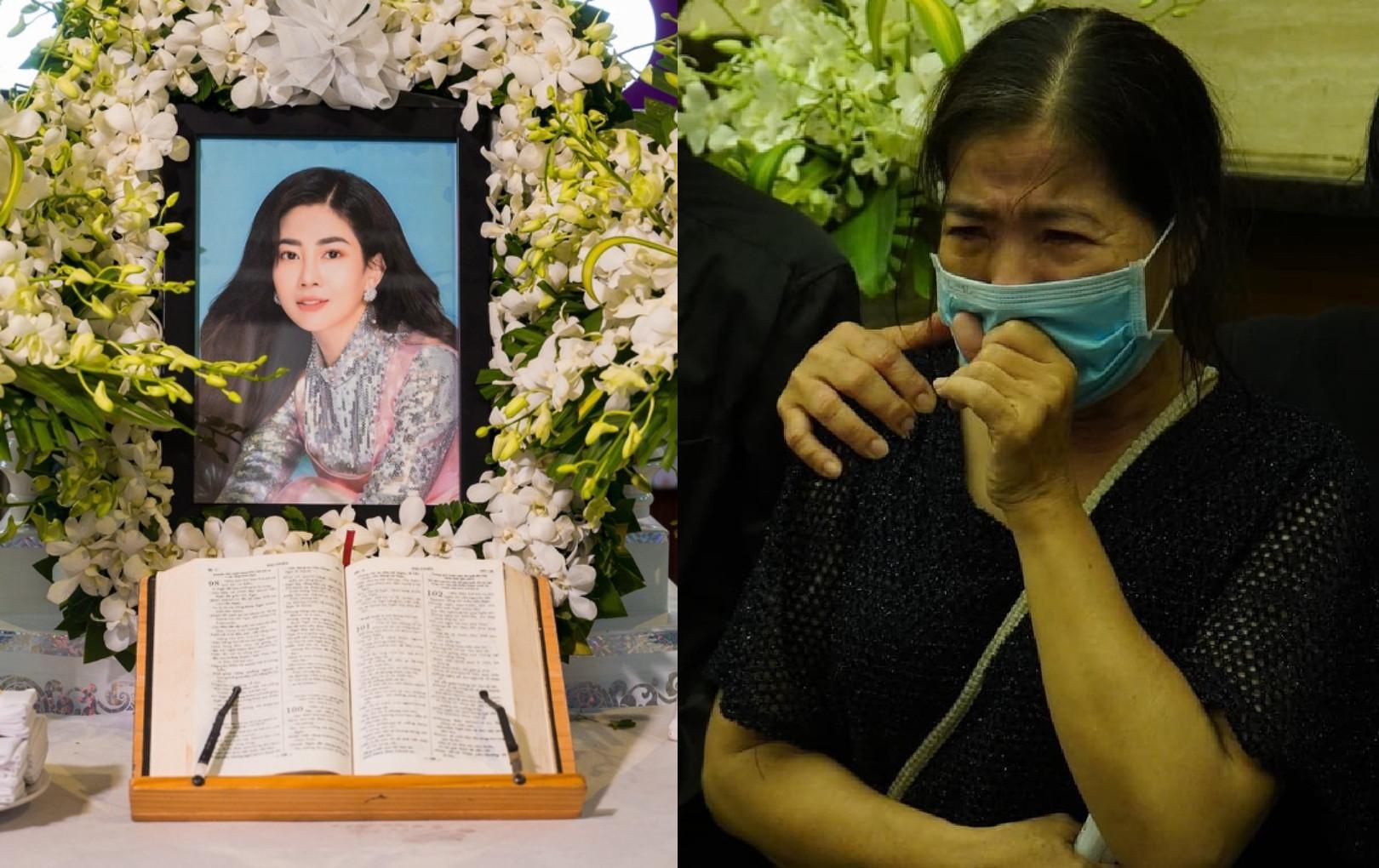 Mẹ Mai Phương khóc nức nở khi tiễn biệt con gái về với Chúa