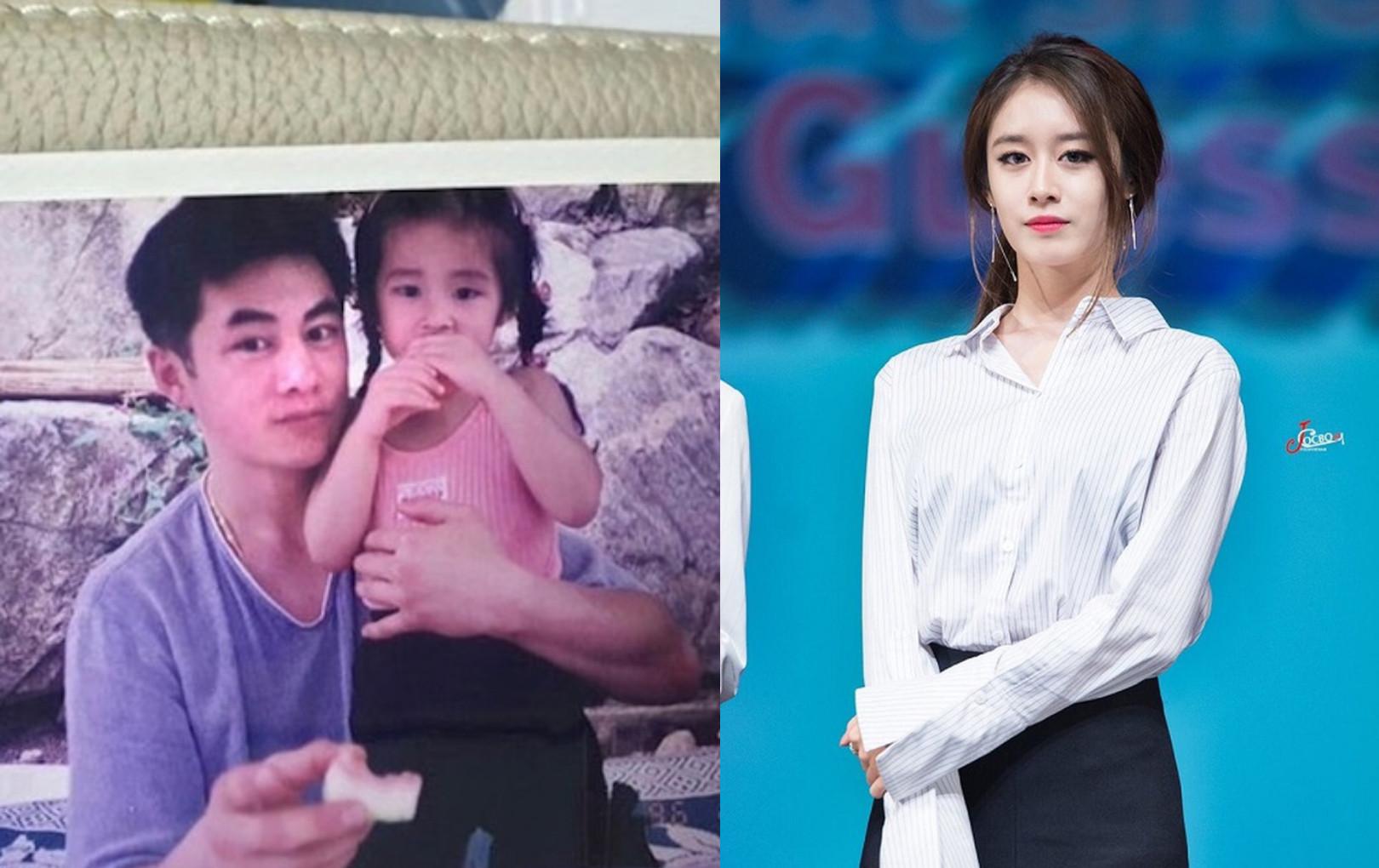 Jiyeon (T-ARA) khoe ảnh ngày bé nhưng người chiếm spotlight lại là bố của cô