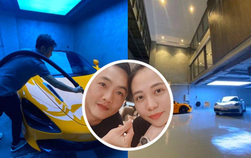 Đàm Thu Trang tiết lộ góc gara sang chảnh trong ngôi biệt thự bạc tỷ mới của hai vợ chồng