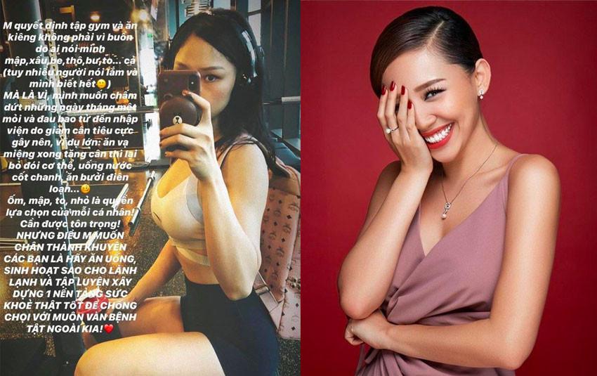 """Cùng là nhịn ăn giảm cân nhưng Miu Lê, Lan Ngọc """"gặt trái đắng"""" còn Tóc Tiên vẫn giữ được sức khỏe"""