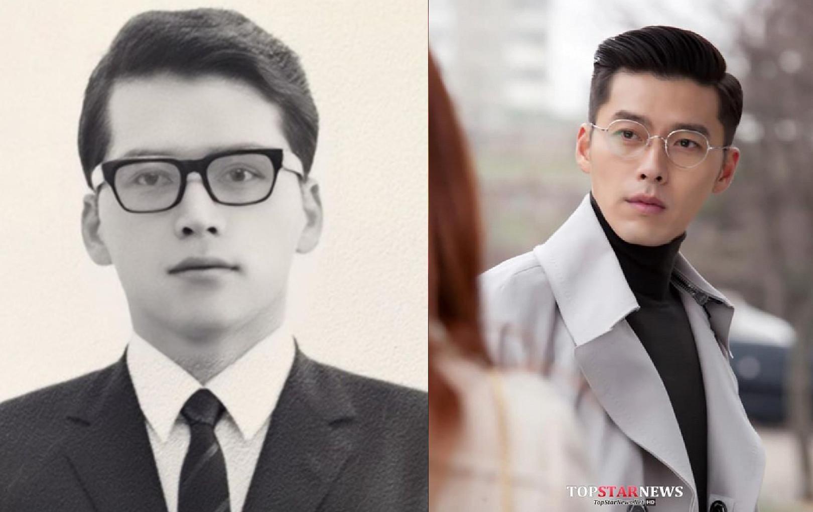 Bức ảnh gây lúc nhất hôm nay: Ảnh thời còn trẻ của bố Song Seung Hun gây sốc vì quá giống Hyun Bin
