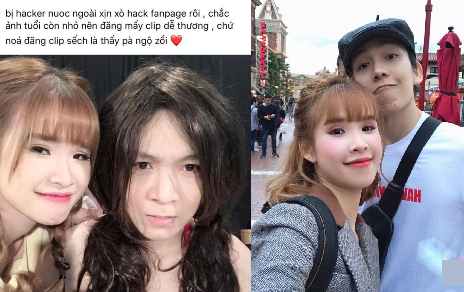 Khởi My đăng hình dìm Kevin Khánh để thông báo bị hack mất fanpage Facebook 10 triệu người theo dõi
