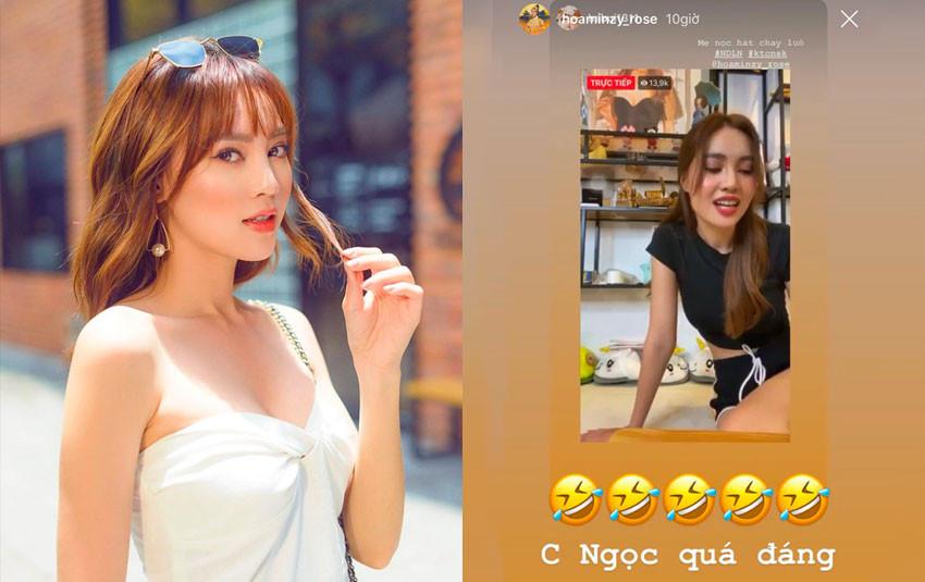 """Ninh Dương Lan Ngọc trổ tài """"hát chay"""" ca khúc hit khiến Hòa Minzy """"cười ra nước mắt"""""""