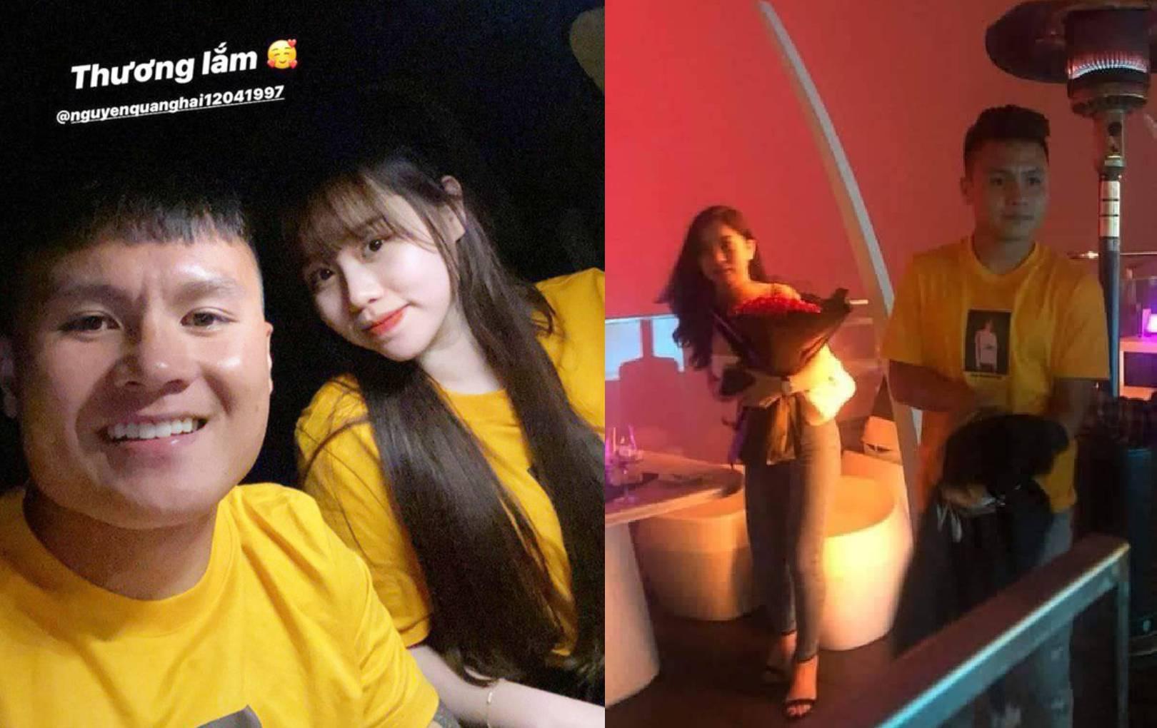 Quang Hải mặc áo đôi với Huỳnh Anh nhưng bị soi cũng từng mặc chiếc áo này đi hẹn hò với Nhật Lê