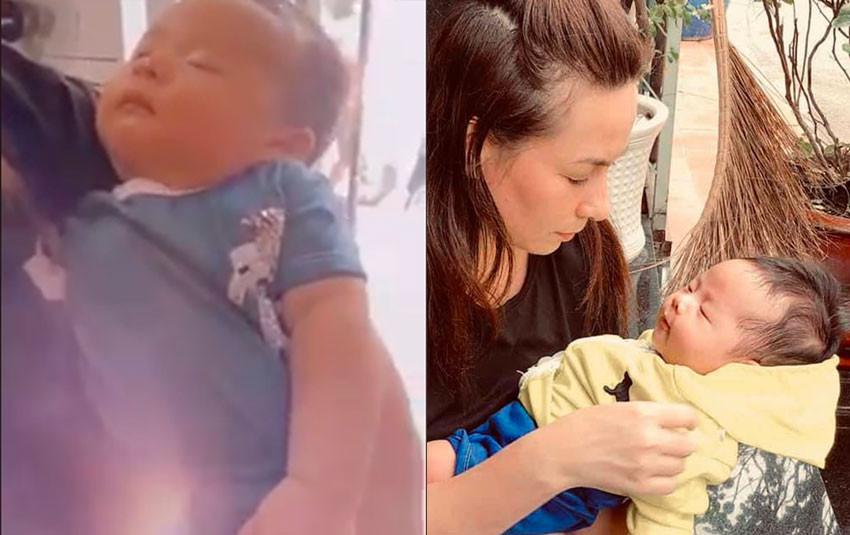 Phi Nhung ấm áp dỗ con trai nuôi, khẳng định bé trông rất giống mẹ Nhung